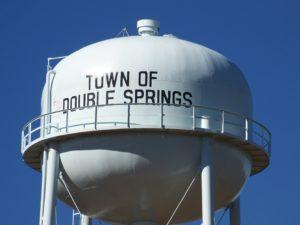 Double Springs, Alabama water tank